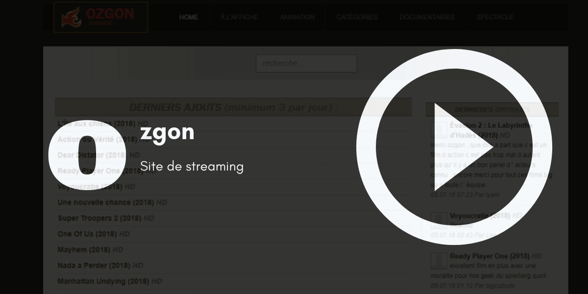 ozgon site streaming