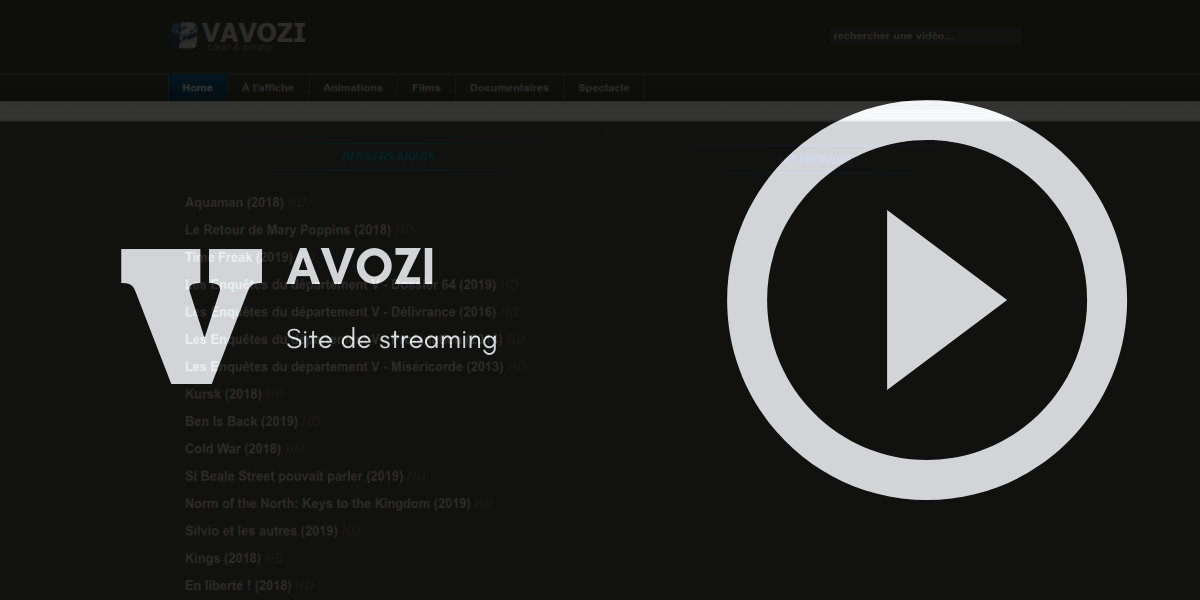 Vavozi streaming