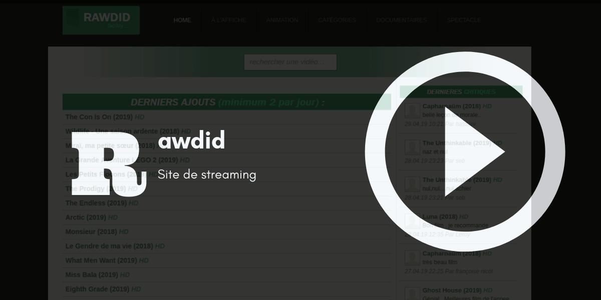 rawdid streaming