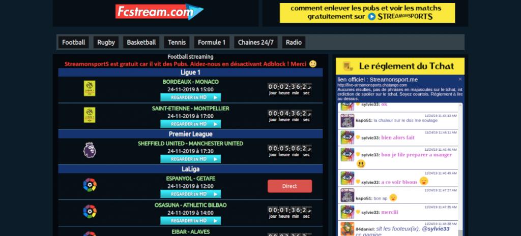 fcstream.com foot en direct